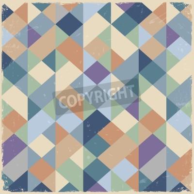 Quadro Retro sfondo geometrico in colori pastello