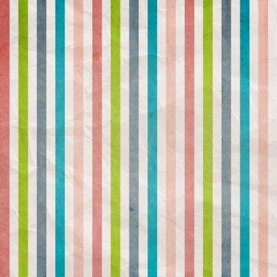 Quadro Retro striscia modello - sfondo con colore rosa, azzurro, grigio,