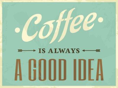 Quadro Retro Style Caffè Poster