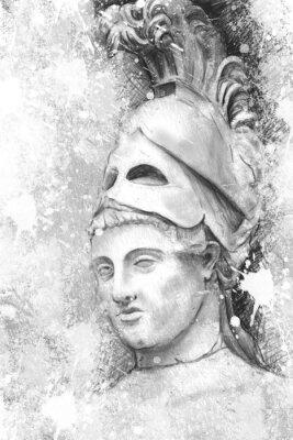 Quadro Ritratto artistico di Pericle con texture di sfondo, classica