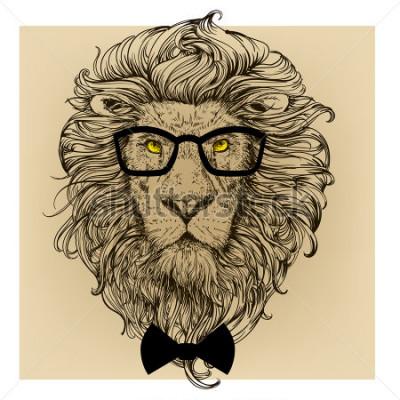 Quadro ritratto del personaggio dei leoni