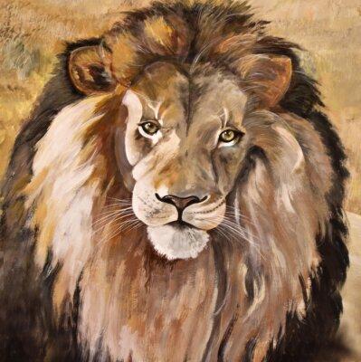 Quadro Ritratto di enorme bello leone maschio africano
