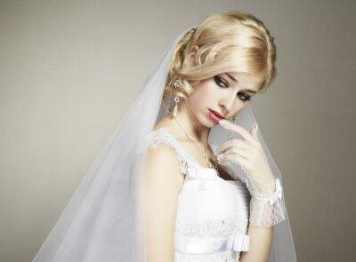Quadro Ritratto di nozze giovane e bella sposa