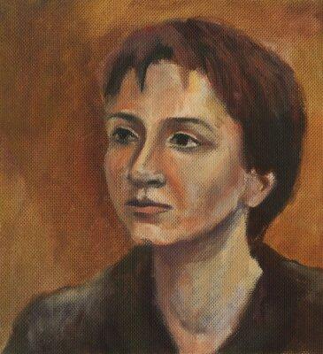 Quadro Ritratto di una giovane donna. Pittura ad olio