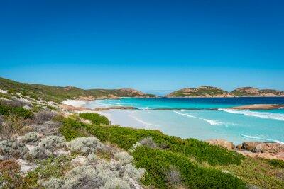 Quadro Rocce sulla spiaggia, Lucky Bay, Esperance, Australia Occidentale