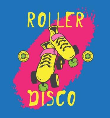 Quadro Roller Skating e grafica roller_disco per la maglietta