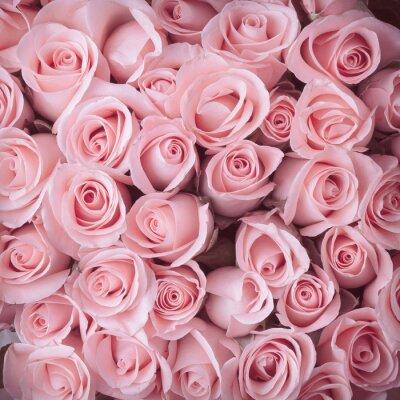 Quadro rosa bouquet di fiori sfondo vintage