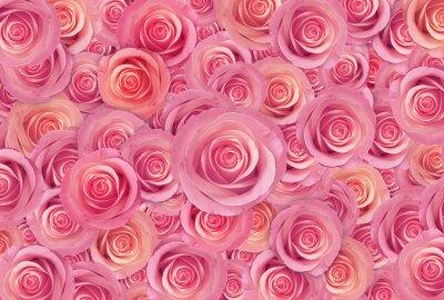 Quadro rose rosa fiore sfondo, felice giorno di San Valentino