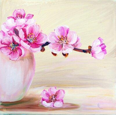 Quadro Sakura fiori in vaso