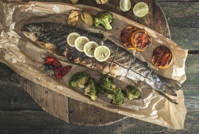 Quadro Salmone e verdure arrosto