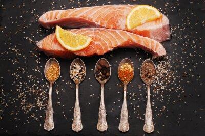 Quadro Salmone fresco e spezie