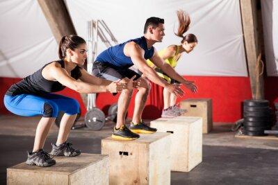 Quadro Saltando esercizi in una palestra