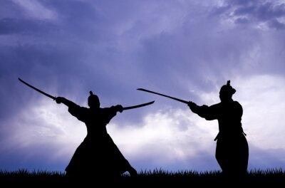 Quadro Samurai silhouette