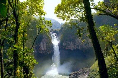 Quadro San Rafael Falls. The Largest Waterfall in Ecuador
