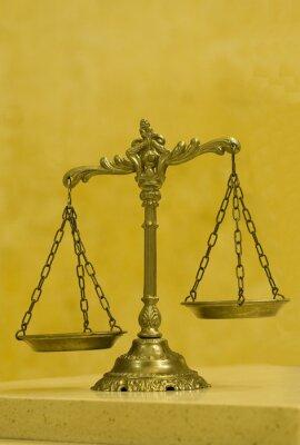 Quadro Scale decorative di giustizia nell'aula giudiziaria