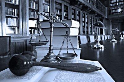 Quadro Scale decorative di giustizia nella libreria