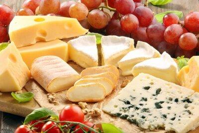 Quadro Scheda del formaggio - vari tipi di composizione di formaggio