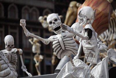 Quadro Scheletri di Day tradizionale dei Morti, Messico