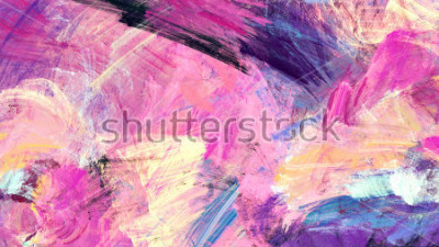 Quadro Schizzi artistici brillanti. Struttura di colore di pittura astratta. Modello futuristico moderno Sfondo dinamico multicolore. Grafica frattale per la progettazione grafica creativa.