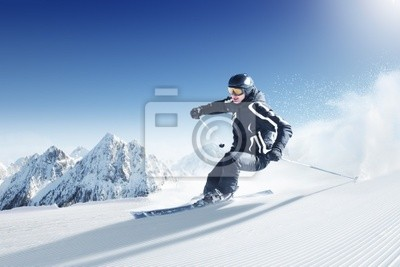 Quadro Sciatore in alta montagna - alpen