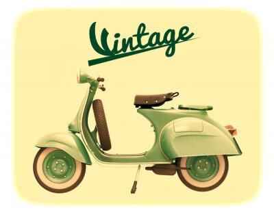 Quadro scooter d'epoca
