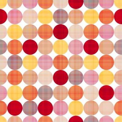 Quadro seamless cerchi texture di sfondo