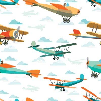 Quadro Seamless da Retro Airplanes