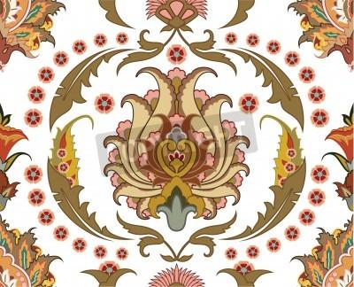 Quadro seamless ornament with east design