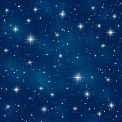 Quadro Seamless pattern con stelle lucenti