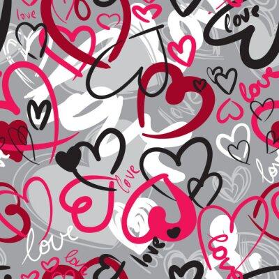 Quadro Seamless pattern di San Valentino carino con cuori