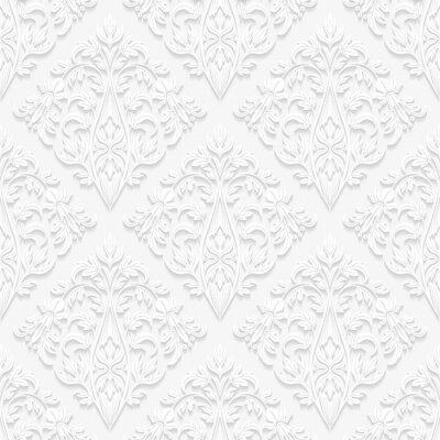 Quadro Seamless pattern floreali in stile tradizionale