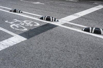 Quadro Segnaletica corsia ciclabile in città