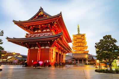 Quadro Senso-ji a zona di Asakusa a Tokyo, Giappone