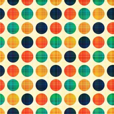 Quadro senza soluzione di continuità astratta Polka dots modello