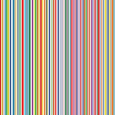 Quadro Senza soluzione di continuità curvo arcobaleno strisce color line arte sfondo vettoriale