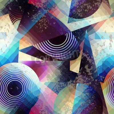Quadro Senza soluzione di continuità di fondo del modello. Abstract pattern geometrico in stile cubista.
