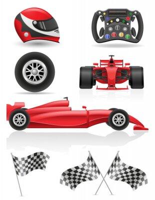 Quadro set di icone di corsa illustrazione vettoriale EPS 10