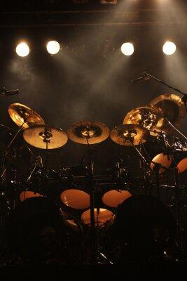 Quadro Set di tamburi sul palco