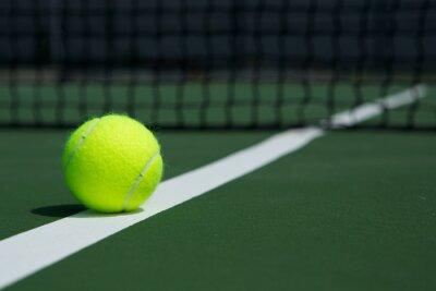 Quadro Sfera di tennis con netto in background