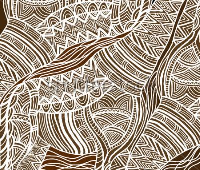 Quadro Sfondo africano in stile etnico dipinto a mano