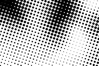 Quadro Sfondo astratto con puntini neri.