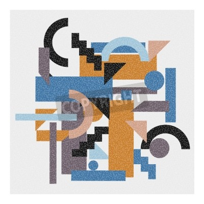 Quadro Sfondo astratto geometrica in stile cubista.