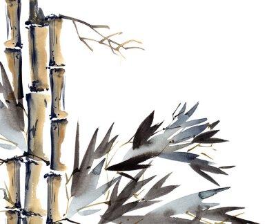 Quadro Sfondo con bambù