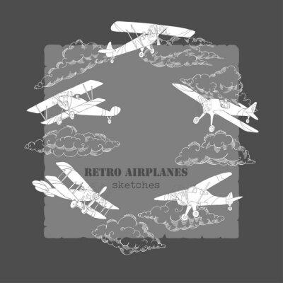 Quadro Sfondo con gli aeroplani