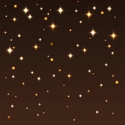 Quadro Sfondo con stelle lucenti nel cielo scuro