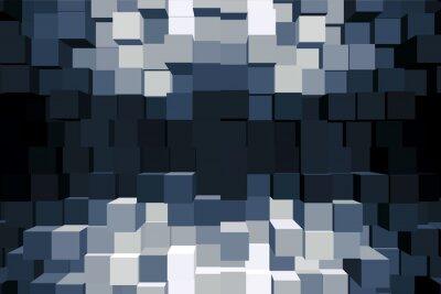 Quadro Sfondo cubico monocromatico.