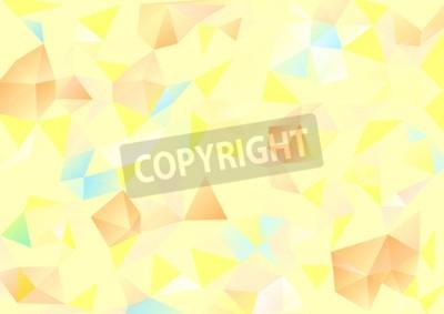 Quadro sfondo Cubismo pallido blu giallo e arancione