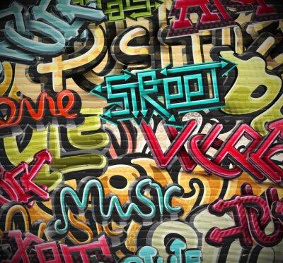 Quadro Sfondo Graffiti