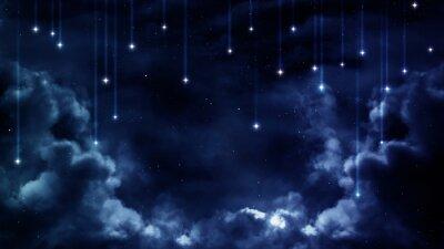 Quadro sfondo pacifico, cielo blu notte. Elementi fornita dalla NASA