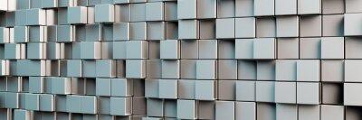 Quadro Sfondo panoramico di cubi grigi